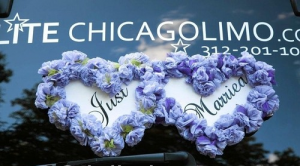 Beautiful Limousine Wedding Sign