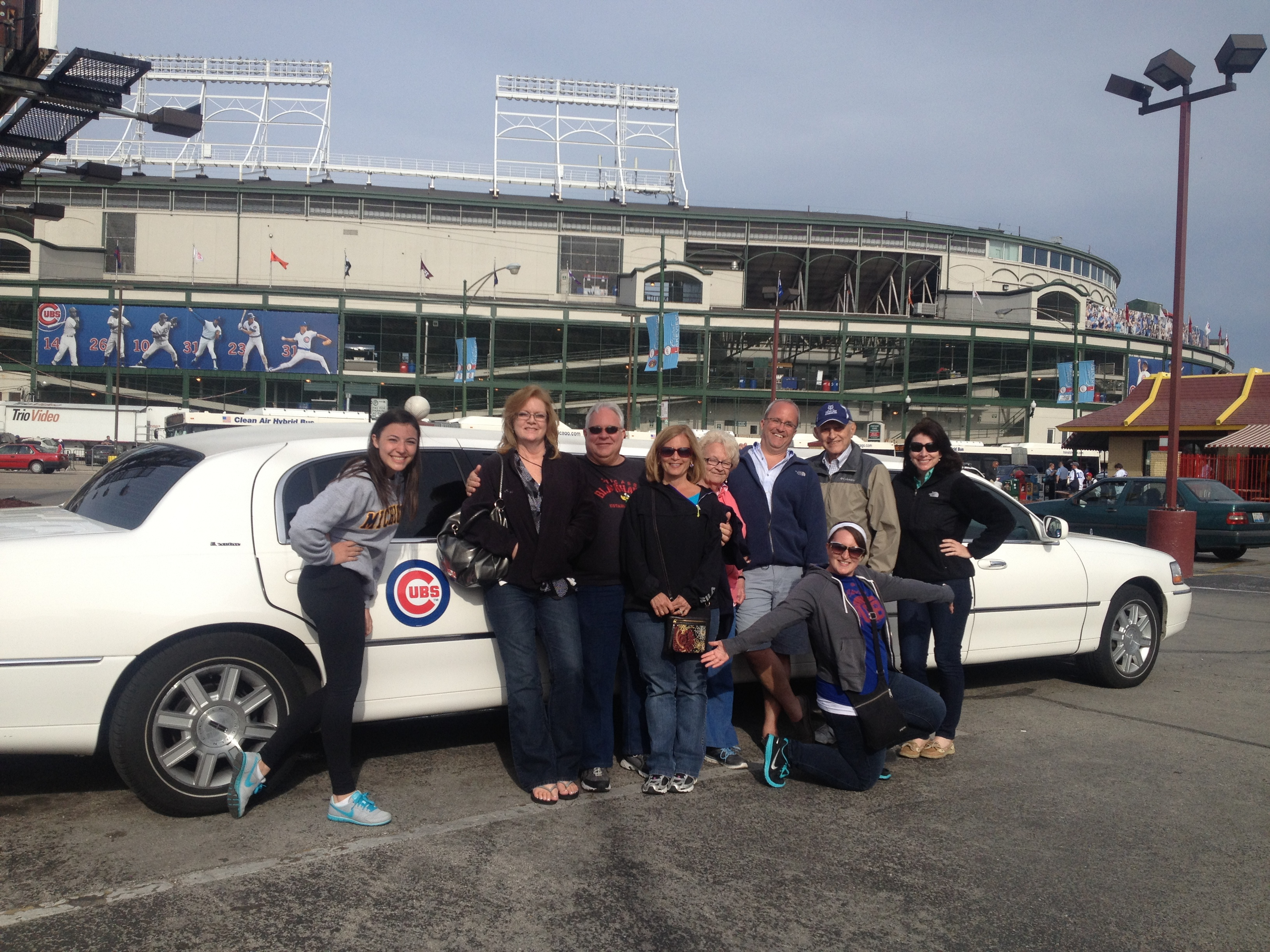 Elite Chicago Limo Customers At A Cubs Game